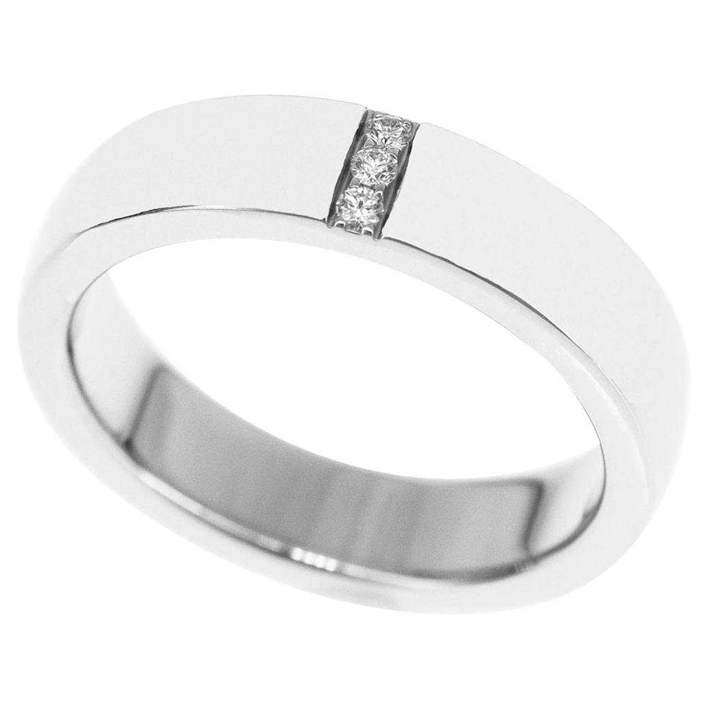 Harry Winston Platinum Vertical Diamond Row Wedding Band Ring