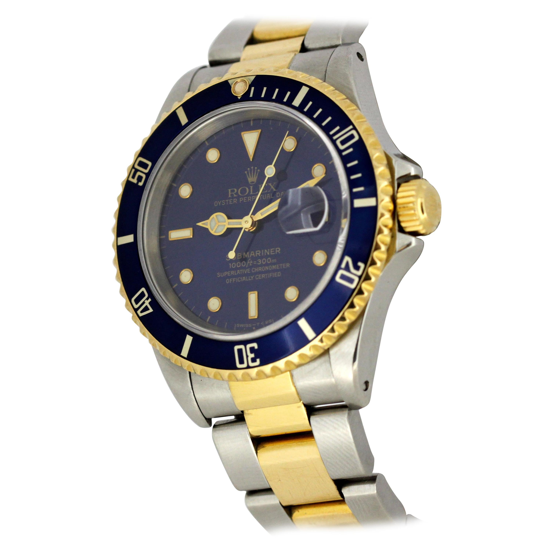 Rolex, Submariner, 18 Karat Gold and Steel, 16613, Men's, 1992
