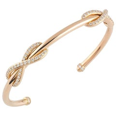 0c465a73f Tiffany and Co. Tiffany T Square Wrap Diamond and 18k Rose Gold Cuff ...