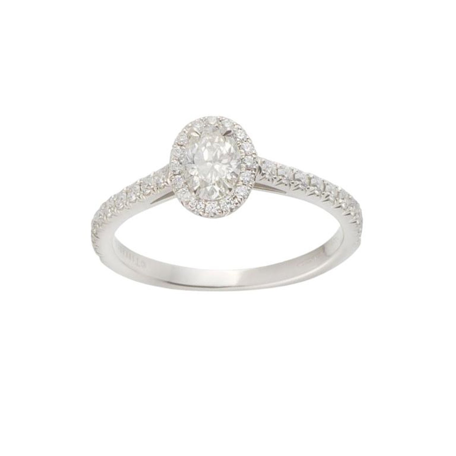 f0acae938 Tiffany and Co. Soleste Oval Diamond Engagement Ring in Platinum For Sale  at 1stdibs
