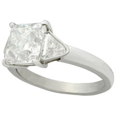 2006 Contemporary 3.86 Carat Diamond and Platinum Engagement Ring