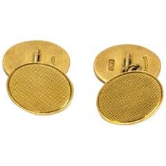 Vintage 9 Carat Gold Ornate Cufflinks