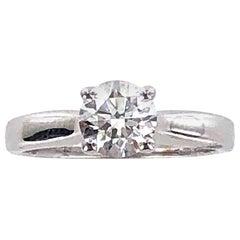 1.02 Carat Round Brilliant Cut Diamond Engagement Ring H/VS2 GIA