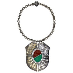 Blason Necklace Feu/Eau by Elie Top
