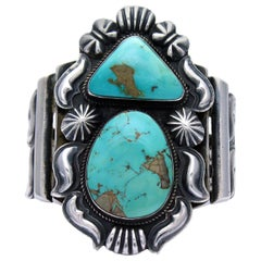 47d6c02e85a8 Sterling Silver Native American sleeping beauty Navajo Turquoise ...