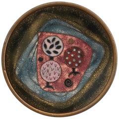 Käthe Ruckenbrod Mid-Century Modern Bauhaus Enamel on Copper Plate or Dish