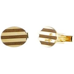Tiffany & Co. Yellow Gold Oval Cufflinks