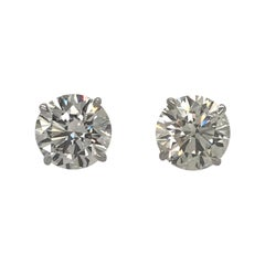 GIA Certified Diamond Stud Earrings 8.02 Carat 18 Karat White Gold