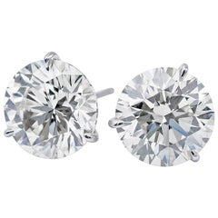Diamond Stud Earrings 6.06 Carat J-K SI3-I1