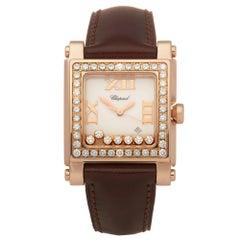 Chopard Happy Sport 7 Diamond 18K Rose Gold 275321-5002 Wristwatch