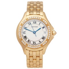 Cartier Panthere Cougar 18K Yellow Gold 8879 Wristwatch