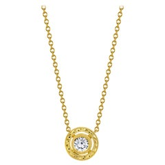 Diamond 18 Karat Yellow Gold Pendant, .35 Carat