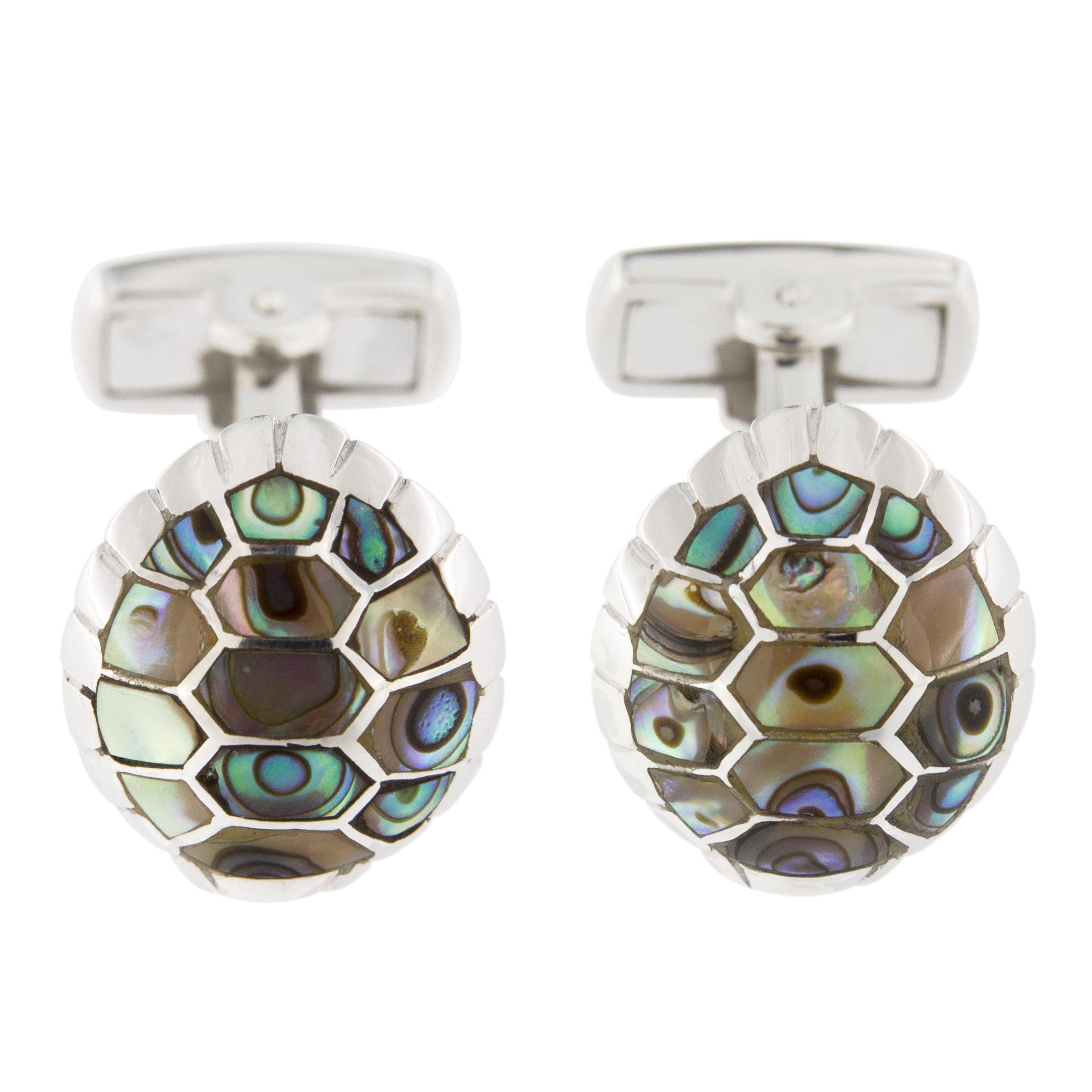 Alex Jona Sterling Silver Turtle Cufflinks