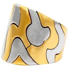 Marina B Stain Steel 18 Karat Ring