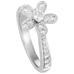 Van Cleef & Arpels Socrate Diamond White Gold Ring