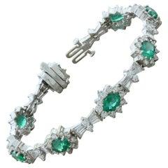 Emerald Diamond Gold Bracelet