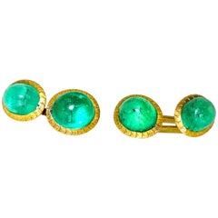 Emerald and Gold Cufflinks, circa 1890