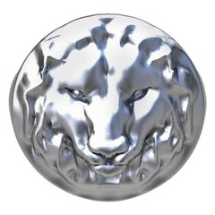 Sterling Silver Lion of Judah Signet Ring