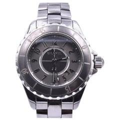 a6d550d3e80 Chanel J12 Stainless Steel Grey Ceramic Watch Ref. J12