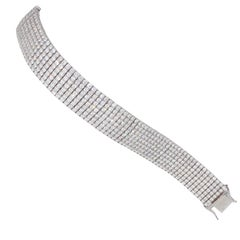 Over 23 Carat Diamond Bracelet. 18 Karat White Gold