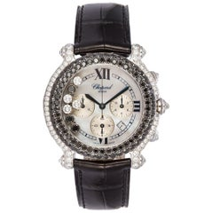 Chopard 18 Karat White Gold and Diamond Happy Sport 28/3340-50