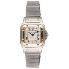Cartier Ladies Two Tone 18K Gold & Steel Santos Galbee Watch 1567 W20012C4