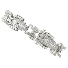 1990s 5.92 carat Diamond and Platinum/Palladium Bracelet