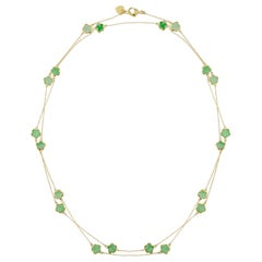 Jona Burmese Jade 18 Karat Yellow Gold Chain Necklace