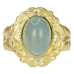 18 Karat Aquamarine Ring