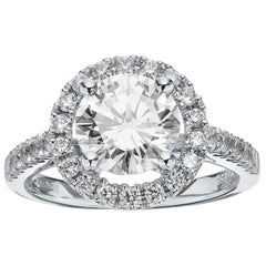 GIA Certified Single Stone Round Diamond 2.05ct F, VVS2 Engagement Ring