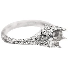 Engagement Ring with an Antique Filigree Design