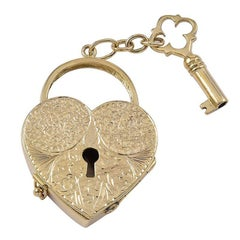 Large Antique Gold Key to My Heart 6-Picture Locket
