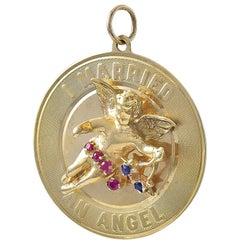 Gold Gemset I Married an Angel Charm