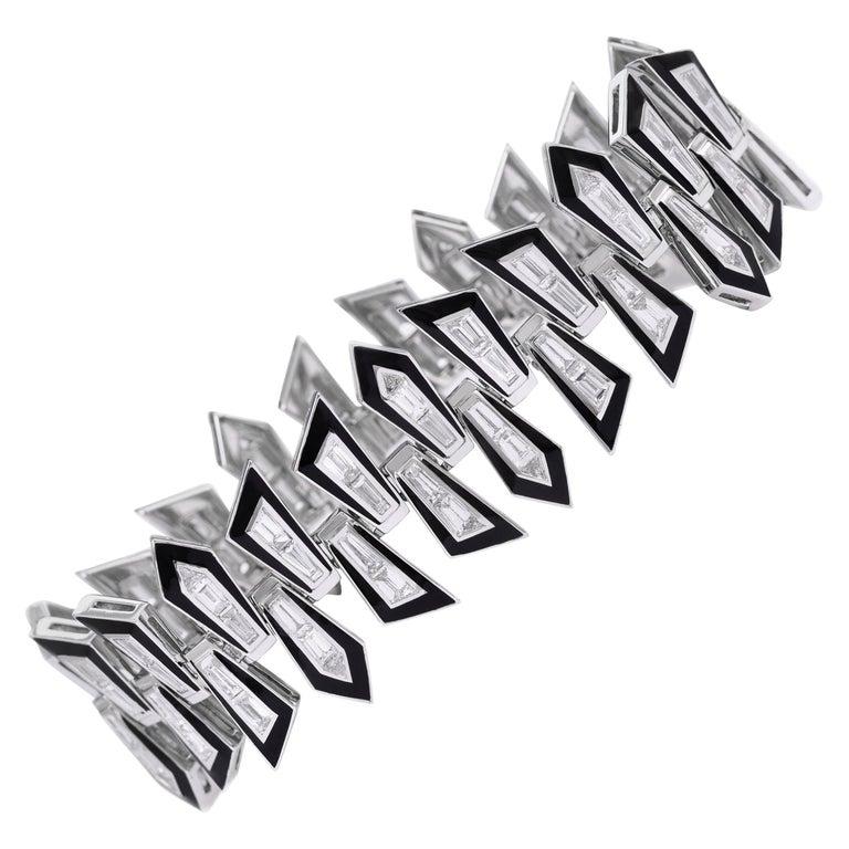 Stephen Webster Dynamite Enamel Shattered diamond bracelet, 2018