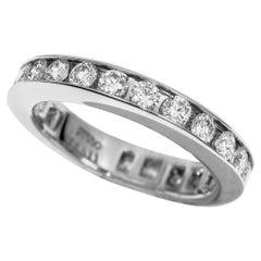Harry Winston 1.10 Carat Diamonds Platinum Channel-Set Round Eternity Band Ring