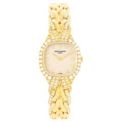 Patek Philippe La Flamme 18 Karat Yellow Gold Diamond Ladies Watch 4815/3