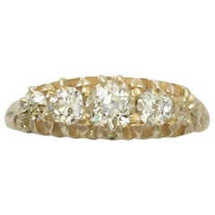 1910s Antique Diamond Gold Five-Stone Ring