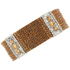 Sapphires and Diamonds Beautiful Link Bracelet