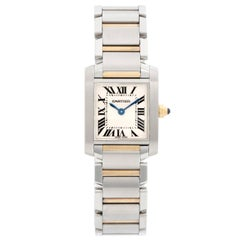 Cartier Tank Francaise Stainless Steel and Yellow Gold Ladies Watch W51008Q3