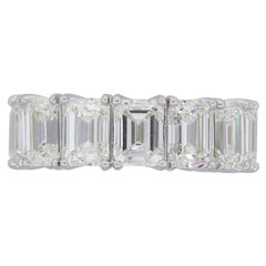 GIA Emerald Cut Diamond Eternity Band