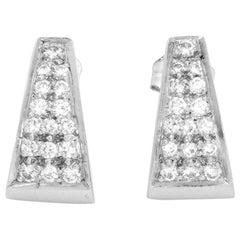 Platinum Pave Diamond Earrings