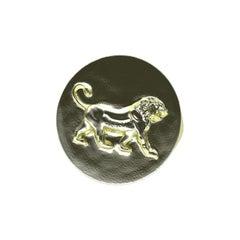 10 Karat Green Gold Persepolis Lion Signet Ring