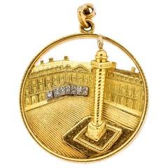 Van Cleef & Arpels Midcentury 18 Karat Gold Place Vendome Charm or Pendant