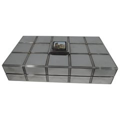 Bulgari Stylish Sterling Silver Box with Grand Tour Micro Mosaic