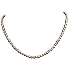 14 Karat Yellow Gold Hollow Bead Necklace