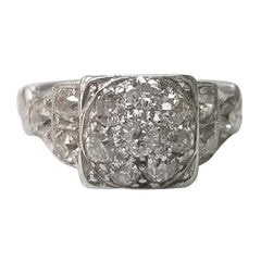 "Platinum ""Vintage"" Diamond Cluster Ring"