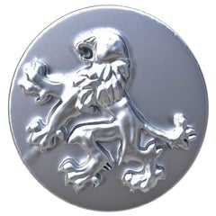 Sterling Lion Rampant Signet Ring