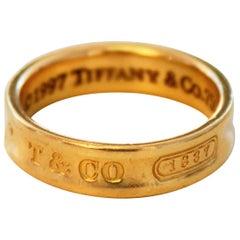 Tiffany & Co. 18 Karat Yellow Gold 1837 Band Ring