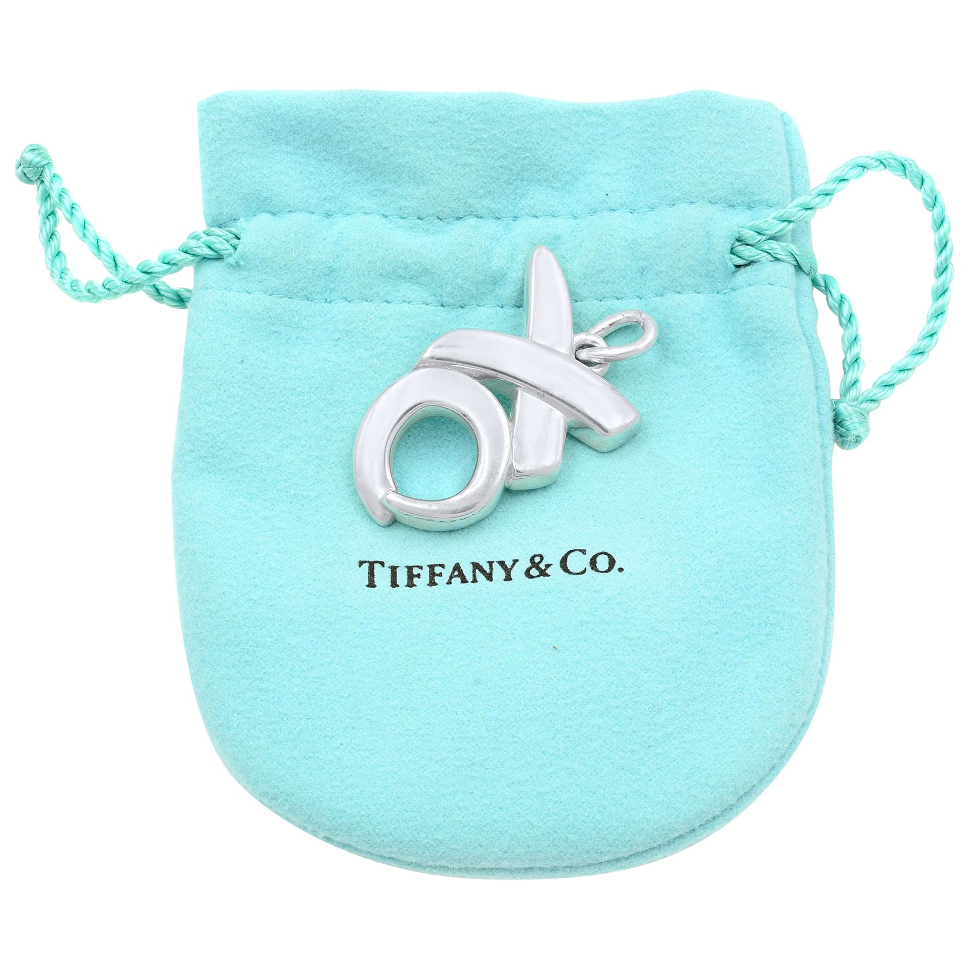 e1b614357 Sterling Silver Tiffany and Co. XO Paloma Picasso Pendant Charm at 1stdibs