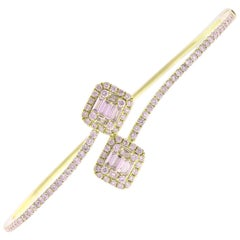 1.20 Carat Total Diamond Bracelet in 14 Karat Yellow Gold